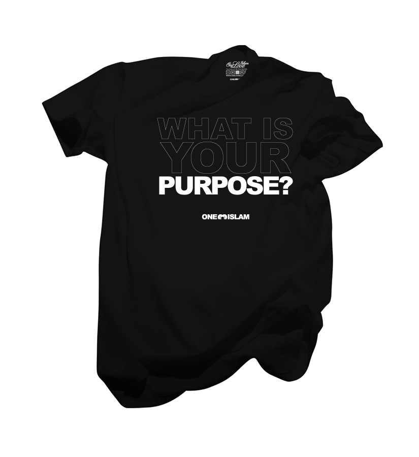 WHATYOURPURPOSE BLACK TSHIRT